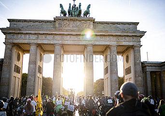 Fahrraddemo in Berlin