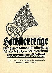 BASF Stickstoff Duengung  Anzeige  Werbung  1926