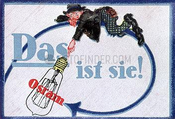 Osram Gluehbirne  Werbung  1913