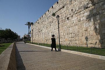 MIDEAST-JERUSALEM-LOCKDOWN