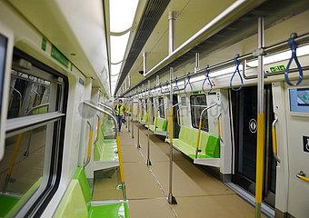 CHINA Beijing-infrastruktur U-Bahnlinien-Testbetrieb (CN)