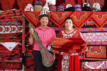 CHINA-XINJIANG-AKETAO-Stick Armutsbekaempfung (CN) CHINA-XINJIANG-AKETAO-Stick Armutsbekaempfung (CN)