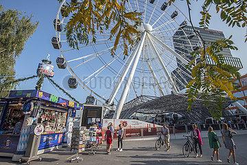 Trachtival im Werksviertel  Aktion Sommer in der Stadt  Muenchen  September 2020