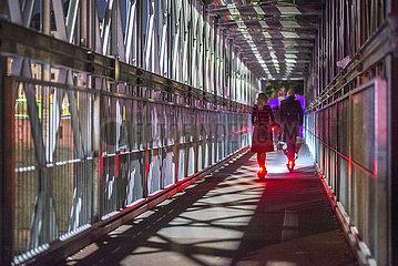 Rollerfahrer bei Nacht  Muenchen  21.09.2020