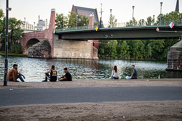 Sommertag in Frankfurt am Main