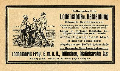 Loden Frey  Werbung  1926
