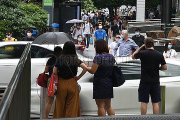SINGAPUR-populations DECLINE