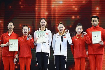 (SP)CHINA-GUANGDONG-ZHAOQING-ARTISTIC GYMNASTICS-CHINESE NATIONAL CHAMPIONSHIPS-ALL ROUND FINAL-WOMEN(CN)