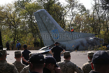 UKRAINE-KHARKIV-MILITARY PLANE-CRASH