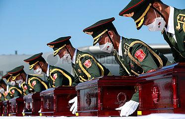 ROK-INCHEON-CHINESE MÄRTYRERN REMAINS-RÜCKKEHR VERLEIHUNG