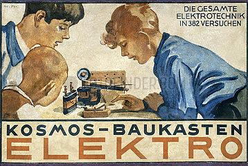 Kosmos Baukasten Elektro  Stuttgart  um 1932