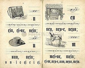 alte Fibel  Schulfibel  1898