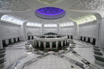 Abu Dhabi  Vereinigte Arabische Emirate  Waschraum in der Scheich Zayid Moschee