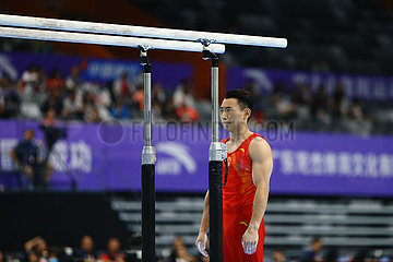(SP) CHINA-GUANGDONG-zhaoqing-Gerättturnen-CHINESE NATIONAL CHAMPIONSHIPS-Barren FINAL-MEN (CN)