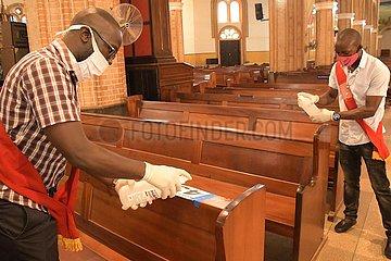 UGANDA-KAMPALA-COVID-19-CHURCH-REOPENING