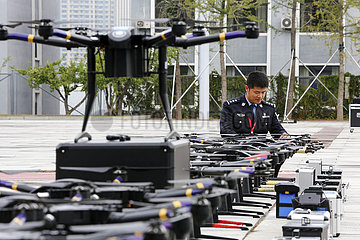 CHINA-LIAONING-ANSHAN POLICE-UAV-TRAINING COURSE-ACHIEVEMENT PRESENTATION (CN)