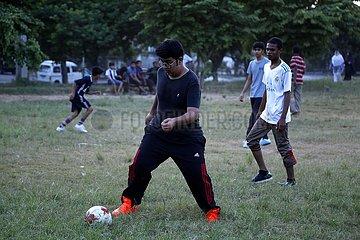 PAKISTAN-ISLAMABAD-FUSSBALL