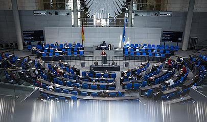 Bundeslandwirtschaftsministerin Julia Kloeckner im Bundestag