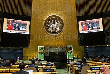 CHINA-XI jinping-UN-Gipfel-BIODIVERSITY (CN)