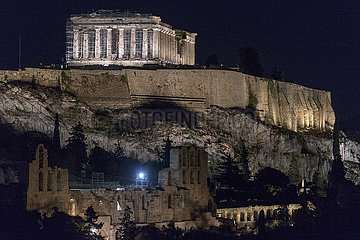 GRIECHENLAND-ATHEN-ACROPOLIS-NEW LIGHTING