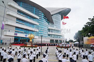CHINA-Hongkong Hissen der Flagge Zeremonie (CN)