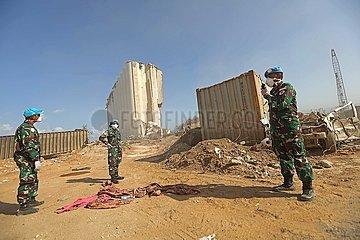 LIBANON-BEIRUT-PORT EXPLOSIONEN-AFTERMATH-UNIFIL-EINSATZ