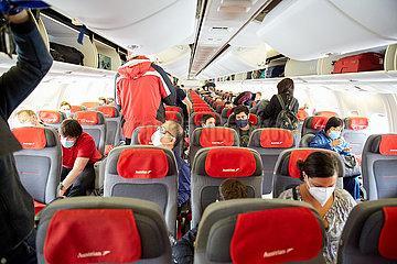 ÖSTERREICH-SCHWECHAT-AUSTRIAN AIRLINES-Passagierflüge nach Shanghai-NAHME ÖSTERREICH-SCHWECHAT-AUSTRIAN AIRLINES-Passagierflüge nach Shanghai-NAHME