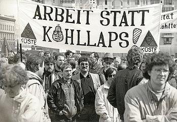 IG Metall Kundgebung  Berlin  1991