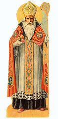 Heiliger Nikolaus  Bischof  Poesiebild  1909