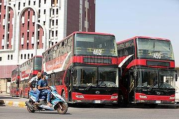 IRAK-BAGDAD-Doppeldeckerbus