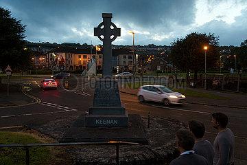 Grossbritannien  Derry - Sean Keenan Memorial im Stadtteil Bogside  Keenan (1914-1993) war ein Aktivist von Sinn Fein und der Derry Citizens Defence Association