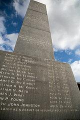 Grossbritannien  Derry - Mahnmal mit den Namen der Opfer des Massakers vom Bloody Sunday 1972 im Stadtteil Bogside.