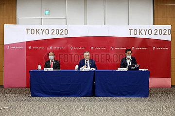 (SP) JAPAN-TOKYO 2020-IOC EB MEETING-PRESS CONFERECE