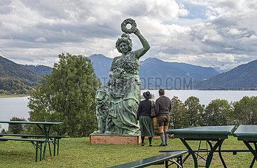 Nachbildung der Bavaria am Tegernsee  Gmund  Oktober 2020