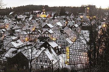 Freudenberg  Fachwerkhäuser im historischen Ortskern | Freudenberg  half-timbered houses in the historic town center