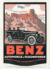 Benz Automobile und Flugmotoren  Werbung  1917