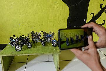 INDONESIEN-SOUTH Tange-MOTORRAD-MINIATUR