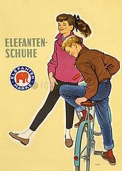 Elefanten-Schuhe  Elefantenmarke  Werbung  1956