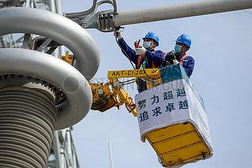 CHINA-XINJIANG-POWER LINE-MAINTENANCE-5G (CN)