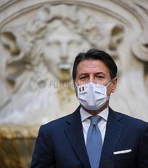 ITALIEN-ROM-CONTE-COVID-19-NEW BESCHRäNKUNGEN