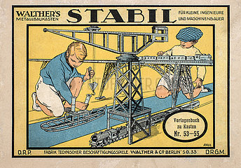 Stabil Metallbaukasten der Firma Walther  Berlin  1932