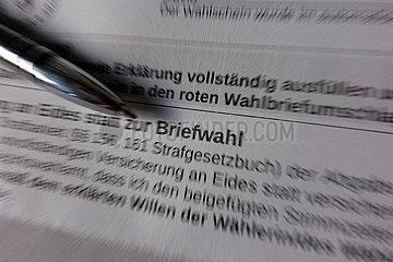 Berlin  Deutschland  Symbolfoto: Briefwahl