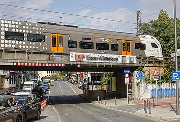 Stadtansicht am Bahnhof Essen-Altenessen  Essen  Ruhrgebiet  Nordrhein-Westfalen  Deutschland
