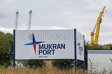 Sassnitz  Ruegen  Mecklenburg-Vorpommern  Deutschland - Faehrhafen Mukran in Sassnitz.