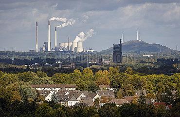 Ruhrgebietslandschaft  Essen  Gelsenkirchen  Ruhrgebiet  Nordrhein-Westfalen  Deutschland