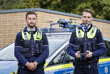 Drohnen bei der Polizei NRW  Neuss  Nordrhein-Westfalen  Deutschland