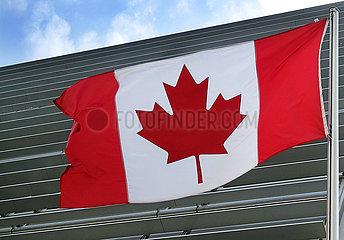 Berlin  Deutschland  Nationalfahne von Canada