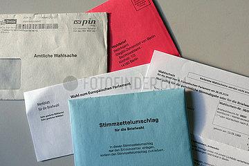 Berlin  Deutschland  Wahlunterlagen fuer eine Briefwahl