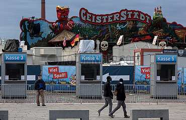 Deutschland  Bremen - Der Freipaak  die coronabedingt abgespeckte Version des Freimarkts  geschlossen wegen ueberhoehter Infektionszahlen
