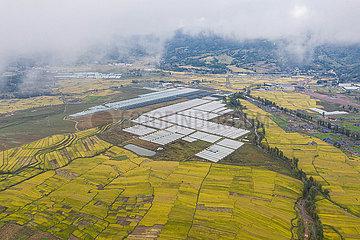 CHINA-SICHUAN-Zhaojue-ARMUTSBEKÄMPFUNG-ANTENNE VIEW (CN)